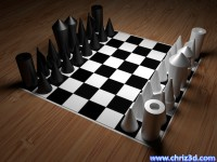 thumb image of puristic chess-set