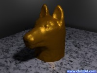 thumb image of German shepherd bust